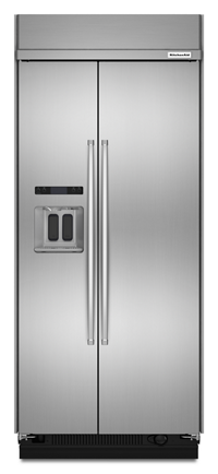 20.8 cu ft 36-Inch Width Built-In Side-by-Side Refrigerator