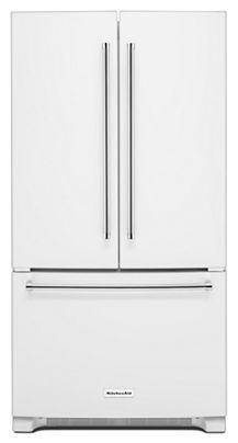 Freestanding French Door Refrigerators KRFC300EWH Mouse Over To Zoom