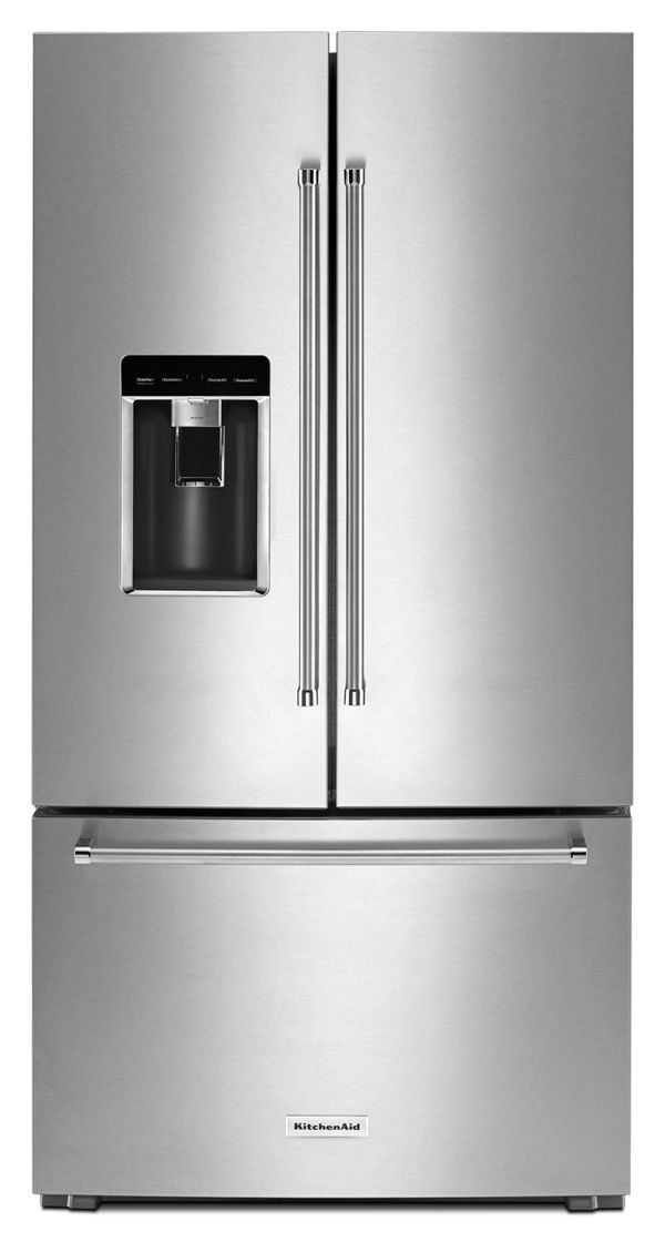 "Image of KitchenAid® 23.8 cu. ft. 36"" Counter-Depth French Door Refrigerator"