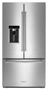 """23.8 cu. ft. 36"""" Counter-Depth French Door Platinum Interior Refrigerator"""