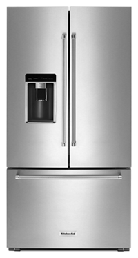 "23.8 cu. ft. 36"" Counter-Depth French Door Platinum Interior Refrigerator"