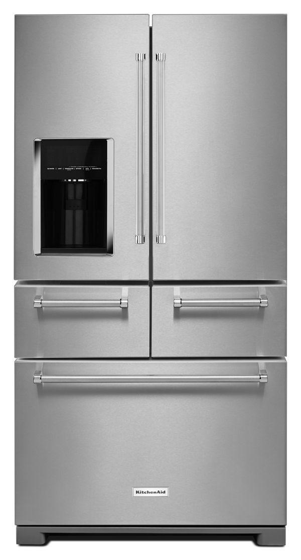 """KitchenAid 25.8 Cu. Ft. 36"""" Multi-Door Freestanding Refrigerator with Platinum Interior Design Review"""