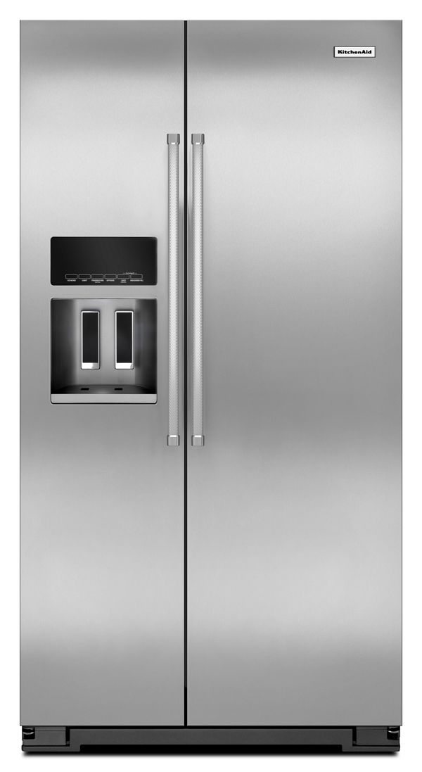 20 Cu. Ft. Counter Depth Side-by-Side Refrigerator with Exterior Ice and Water
