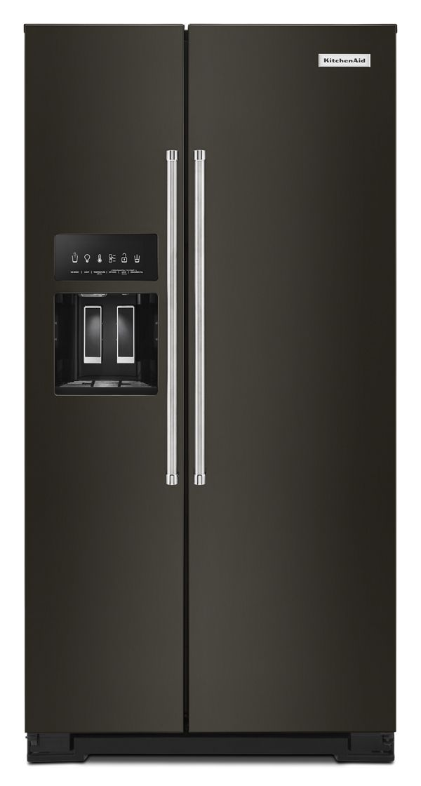 22.6 cu ft. Counter-Depth Side-by-Side Refrigerator with Exterior Ice and Water and PrintShield™ finish