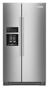 24.8 cu ft. Side-by-Side Refrigerator with Exterior Ice and Water and PrintShield™ finish