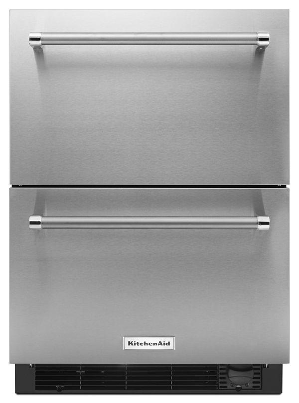 "Image of KitchenAid® 24"" Stainless Steel Refrigerator/Freezer Drawer"