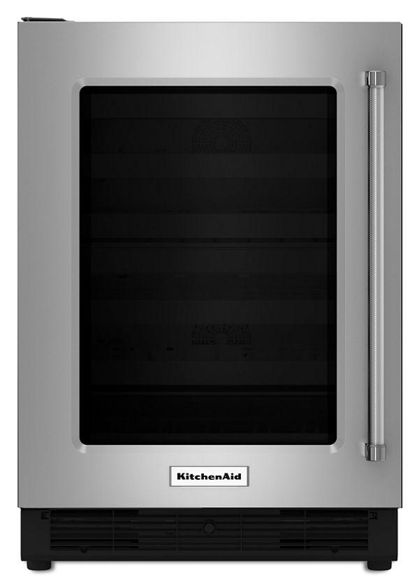 "Image of KitchenAid® 24"" Undercounter Refrigerator with Glass Door"