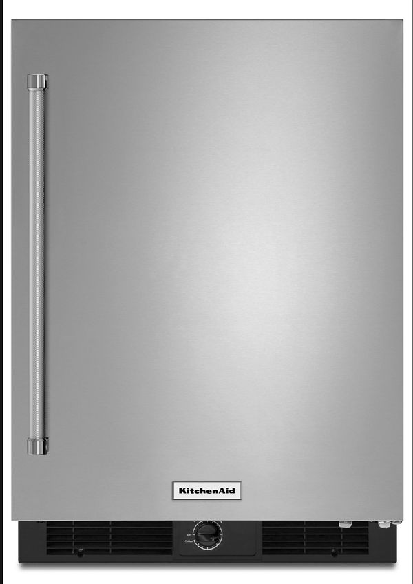 "Image of KitchenAid® 24"" Undercounter Refrigerator with Stainless Steel Door"
