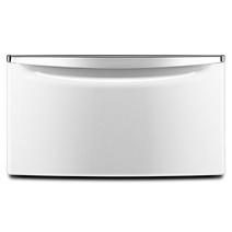 "15.5"" (39.37 cm) Laundry Pedestal with Chrome Handle and Storage Drawer"