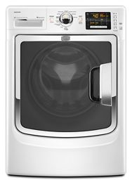 White Maxima® Front Load Washer with PowerWash® Cycle MHW6000XW | Maytag