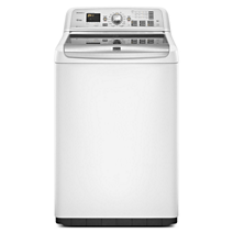White Bravos XL® HE Top Load Washer with PowerWash® System
