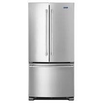 Réfrigérateur à portes françaises Maytag® avec distributeur d'eau extérieur, 33 po, 22 pi3