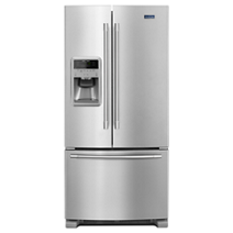 Maytag® 33- Inch Wide French Door Refrigerator with Beverage Chiller™ Compartment - 22 Cu. Ft.