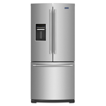 30 Inch Wide French Door Refrigerator With Exterior Water Dispenser  20 Cu.  Ft