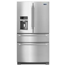 Réfrigérateur à quatre portes françaises avec tablettes en acier - 26 pi cu