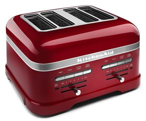 Enjoy toasted breads and pastries with KitchenAid 4-slice toasters.
