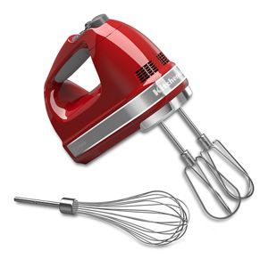 Hand held mixers from KitchenAid.