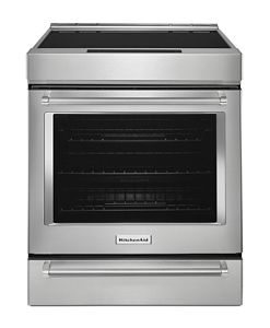 30-Inch 4-Element Induction Convection Front Control Range with Baking Drawer