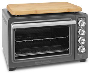 KitchenAid® toaster ovens feature a range of cooking options.