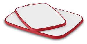 Plastic poly cutting boards from KitchenAid® come in multiple colors.