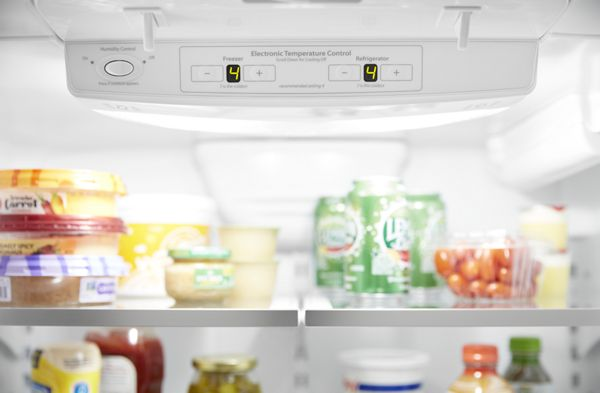 A refrigerators electronic temperature control