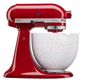 5 Quart Confetti Sprinkle Ceramic Bowl
