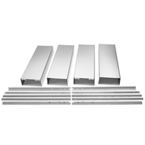 Island Hood Chimney Extension Kit - Stainless Steel