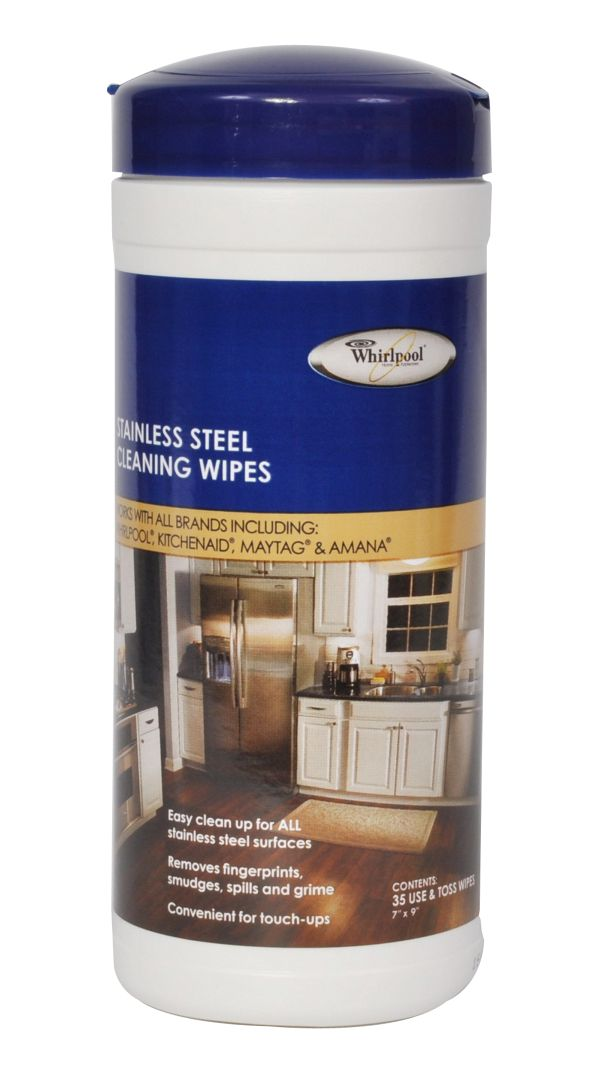 Image of Stainless Steel Cleaning Wipes - 35 wipes