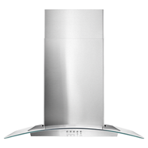 "Whirlpool® 30"" Concave Glass Wall Mount Range Hood"