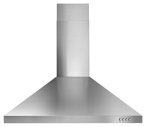 "Image of 30"" Contemporary Stainless Steel Wall Mount Range Hood"