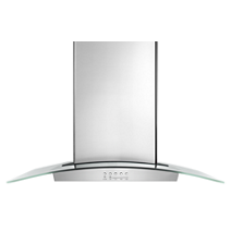 36 inch Convertible Glass Kitchen Range Hood with Quiet Partner™ Blower
