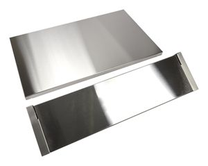 Stainless Steel Backsplash with Dual Position Shelf