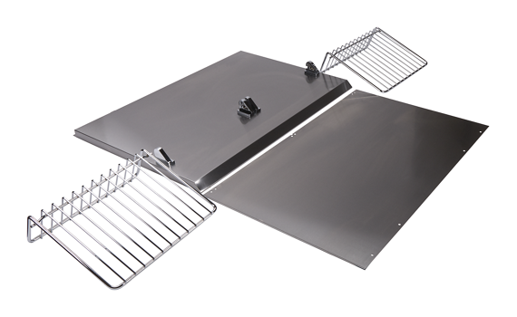"Backguard with Shelf - 30"" Stainless Steel"