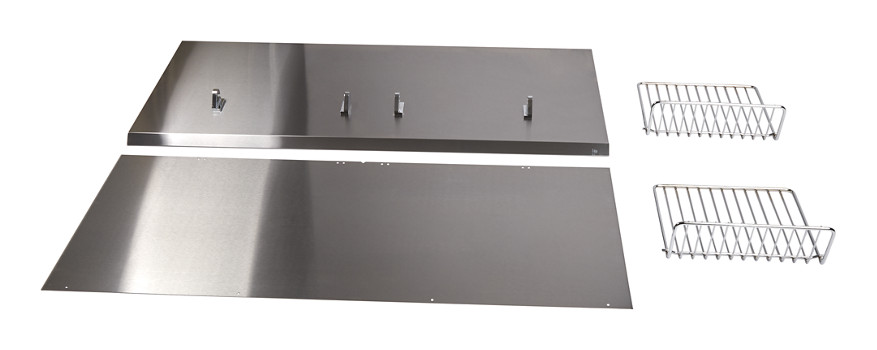 "Backguard with Shelf - 36"" Stainless Steel"