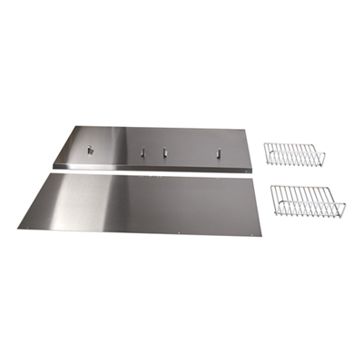 "Backguard with Shelf - 48"" Stainless Steel"
