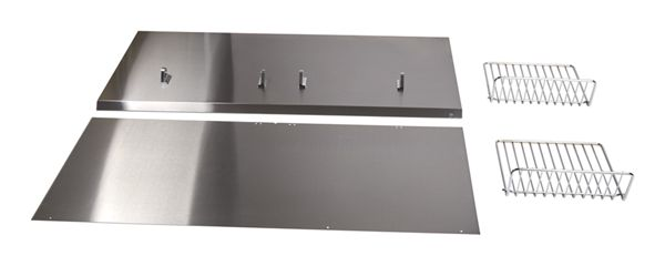 Range Hood Backsplash Kit with Shelf