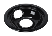 "6"" Universal Porcelain Replacement Bowl - Black"