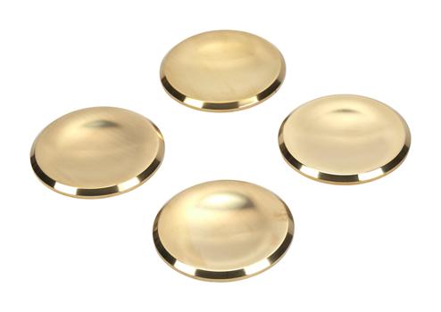 Set of 4 Range Large Brass Burner Caps