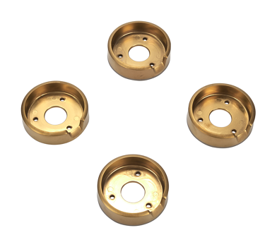 Set of 4 Range Brass Knob Bezels, Oven