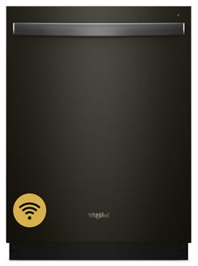 Whirlpool Smart Dishwasher with Stainless Steel Tub - Black