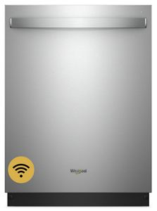 Whirlpool Smart Dishwasher with Stainless Steel Tub - Stainless Steel