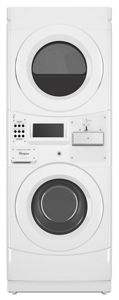 Commercial Electric Stack Washer/Dryer, Coin Equipped