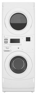 Commercial Gas Stack Washer/Dryer, Card Reader-Ready