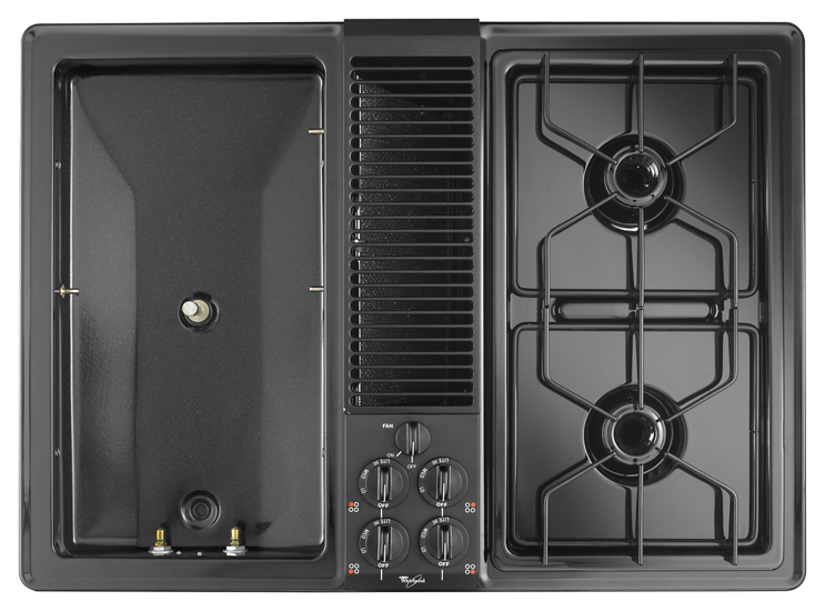 30 Inch Gas Cooktop With Downdraft Ventilation System