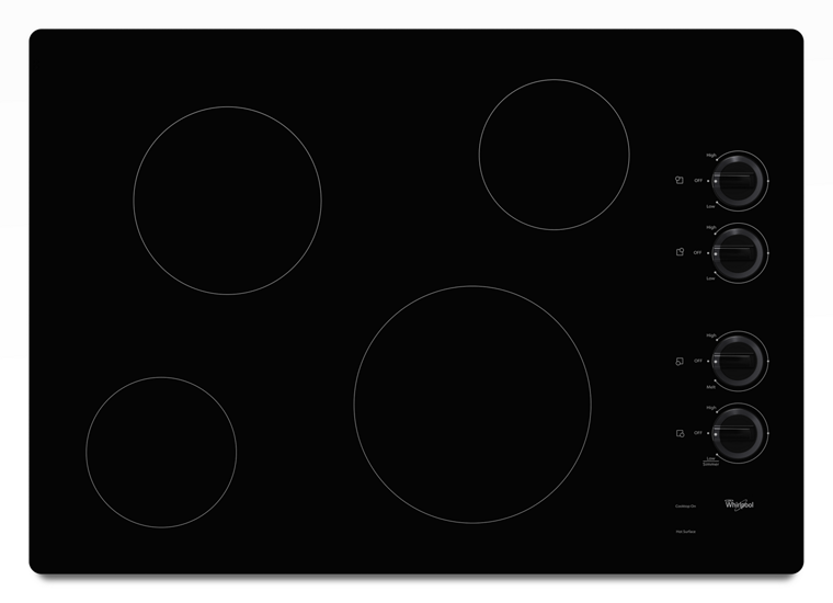 30 inch electric ceramic glass cooktop whirlpool. Black Bedroom Furniture Sets. Home Design Ideas