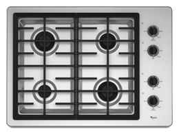 Stainless Steel 30 Inch Gas Cooktop With Two 12 500 Btu Power