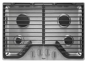 30 inch Gas Cooktop with EZ-2-Lift™ Hinged Cast-Iron Grates