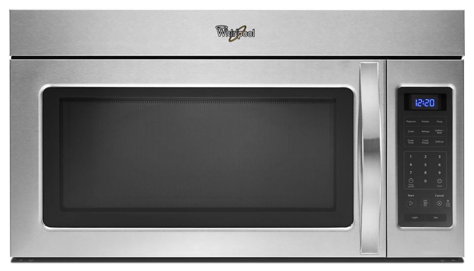 Whirlpool 174 1 7 Cu Ft Microwave Hood Combination With 2