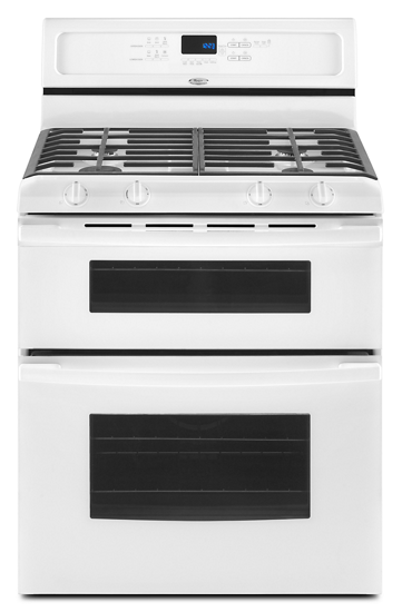 30 inch self cleaning double oven freestanding gas range whirlpool
