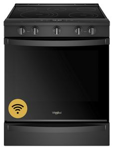 Whirlpool 6.4 cu. ft. Smart Slide-in Electric Range with Scan-to-Cook Technology - Black